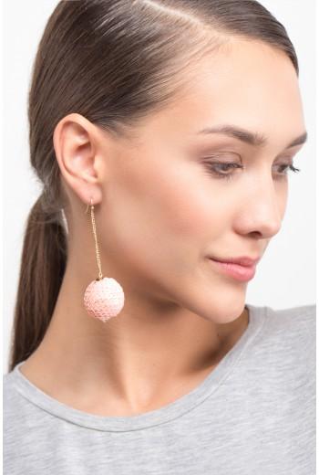 Sequined ball earrings