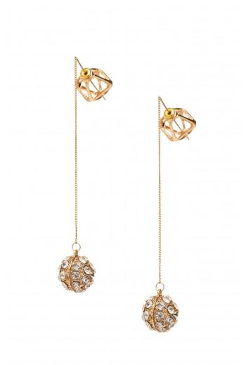 Gold crystal balls