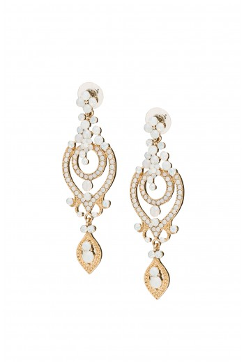 Antique pearl statment earings