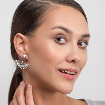 Fan shaped lady ear stud