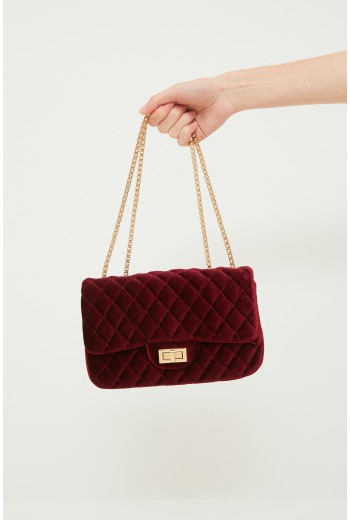 Burgundy quilted bag