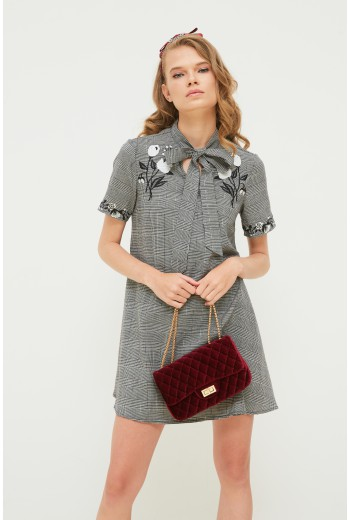Embroidery swing dress