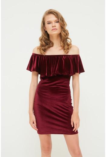 Extreme ruffle dress