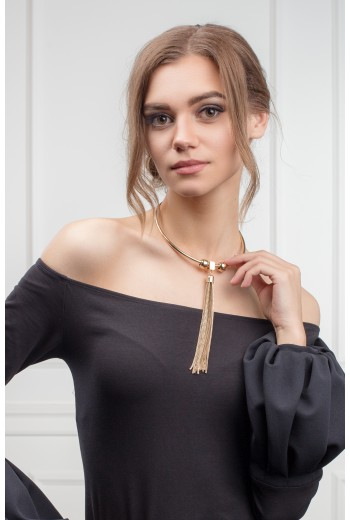Golden tassels necklace