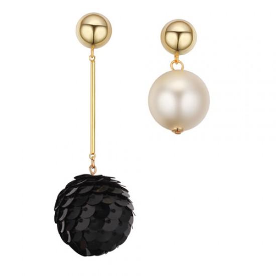 Asymmetrical bubble earrings