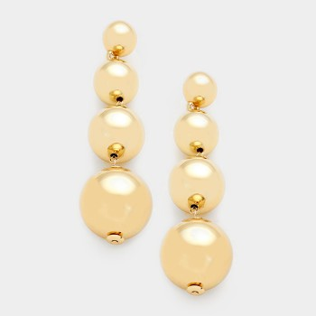 Golden bubble earrings