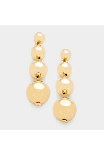 Golden bubble earrings