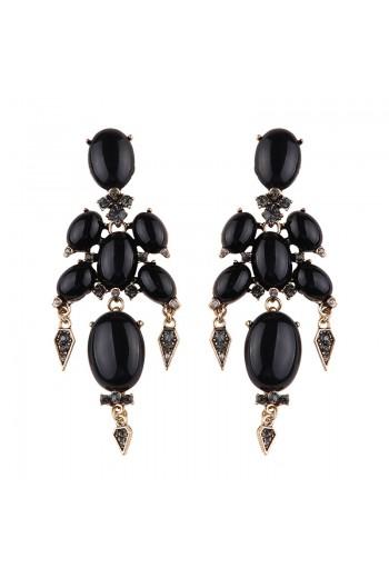 Black gothic earrings
