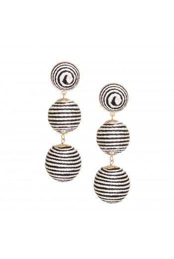 Thread drop earrings