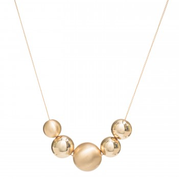 Golden bubbles necklace