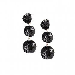 Black sequin bubbles earrings