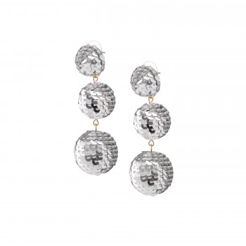 Silver sequin bubbles earrings