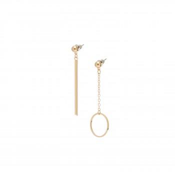 Modern bar and circle earrings