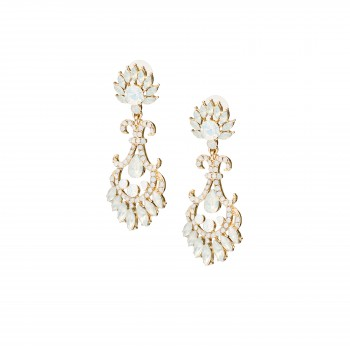Ice blue crystal earings