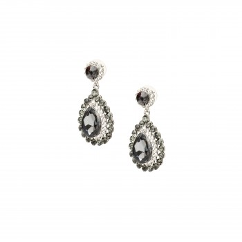 Black crystal drop earings