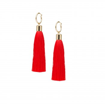 Scarlet fringe earrings