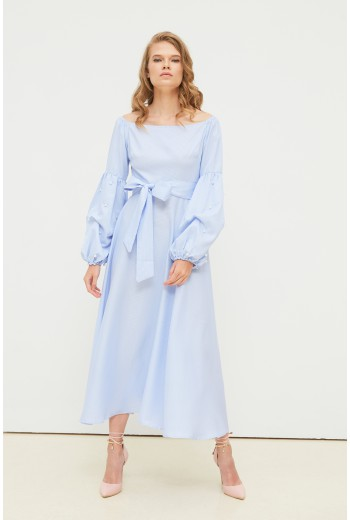 Sky blue midi dress